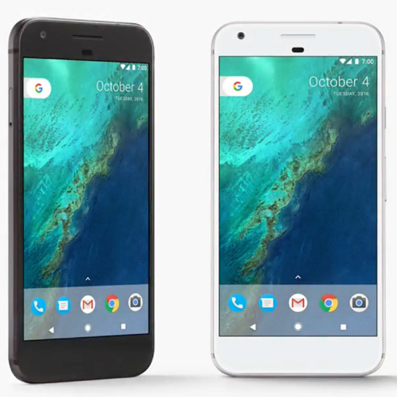 Google Pixel - Black and Silver